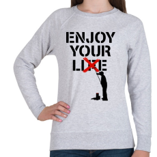 PRINTFASHION Hazugság - Női pulóver - Sport szürke