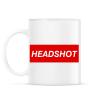 PRINTFASHION Headshot - Bögre - Fehér