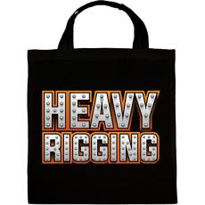 PRINTFASHION Heavy Rigging felirat - Vászontáska - Fekete