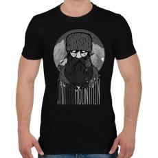 PRINTFASHION Hegyi ember - Férfi póló - Fekete