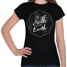 PRINTFASHION HELLO FÖLD - Női póló - Fekete