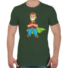 PRINTFASHION Hero - Férfi póló - Katonazöld