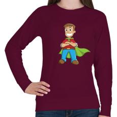 PRINTFASHION Hero - Női pulóver - Bordó