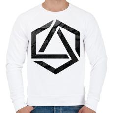 PRINTFASHION Hexagonal 3 - Férfi pulóver - Fehér