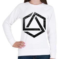 PRINTFASHION Hexagonal 3 - Női pulóver - Fehér