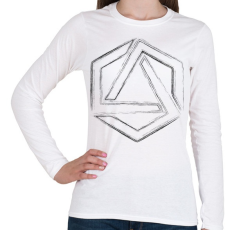 PRINTFASHION Hexagonal 4 - Női hosszú ujjú póló - Fehér