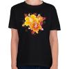 PRINTFASHION Hibiscus, - Gyerek póló - Fekete