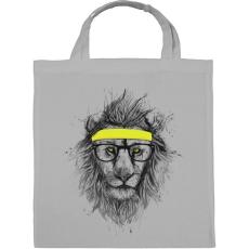 PRINTFASHION Hipster lion - Vászontáska - Szürke