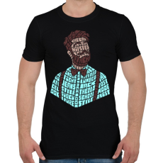 PRINTFASHION Hipszter - Férfi póló - Fekete