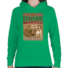 PRINTFASHION Hitehagyott  - Női kapucnis pulóver - Zöld
