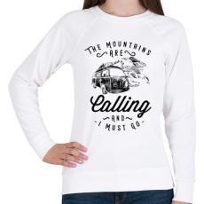 PRINTFASHION Hívogató hegyek  - Női pulóver - Fehér