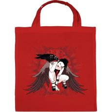 PRINTFASHION Holló lány - Vászontáska - Piros