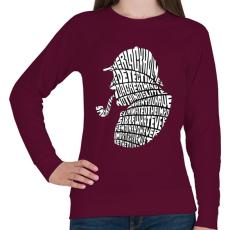 PRINTFASHION Holmes - Női pulóver - Bordó