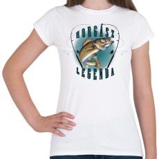 PRINTFASHION Horgászlegenda - Női póló - Fehér