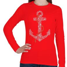 PRINTFASHION Horgony - Női hosszú ujjú póló - Piros