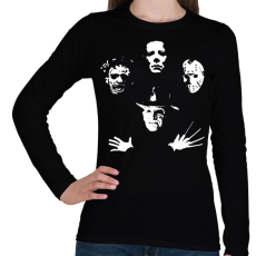 PRINTFASHION Horror Team - Női hosszú ujjú póló - Fekete