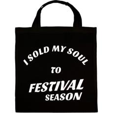 PRINTFASHION I sold my soul to FESTIVAL SEASON - Vászontáska - Fekete