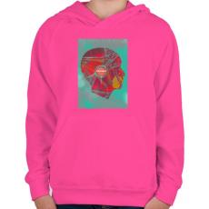 PRINTFASHION Ideg - Gyerek kapucnis pulóver - Fukszia
