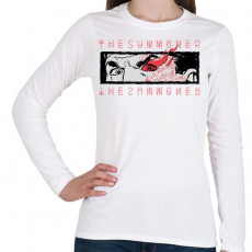 PRINTFASHION Idéző - Női hosszú ujjú póló - Fehér
