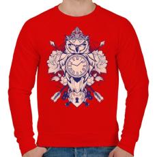 PRINTFASHION Időbagoly - Férfi pulóver - Piros