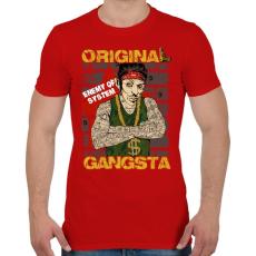 PRINTFASHION Igazi gangsta - Férfi póló - Piros