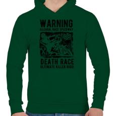 PRINTFASHION Illegális futam - Férfi kapucnis pulóver - Sötétzöld