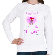 PRINTFASHION Imádni való pici lány - Női pulóver - Fehér