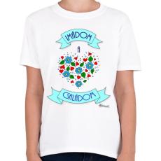 PRINTFASHION Imádom a családom - Gyerek póló - Fehér