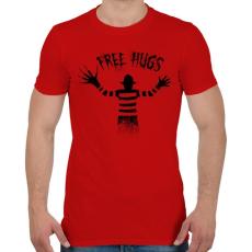 PRINTFASHION Ingyen ölelés - Férfi póló - Piros