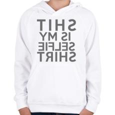 PRINTFASHION Is my selfie shirt. - Gyerek kapucnis pulóver - Fehér
