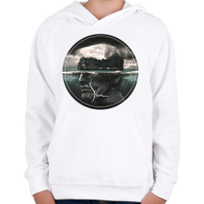 PRINTFASHION islandproject-01-01.png - Gyerek kapucnis pulóver - Fehér