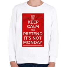 PRINTFASHION It's not monday - Gyerek pulóver - Fehér