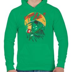 PRINTFASHION Ivás/halál ? - Férfi kapucnis pulóver - Zöld