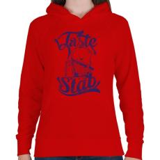 PRINTFASHION Ízletes - Női kapucnis pulóver - Piros