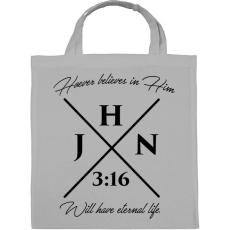 PRINTFASHION János 3:16 - Vászontáska - Szürke