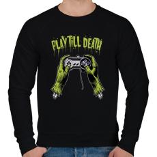 PRINTFASHION Játssz a halálig - Férfi pulóver - Fekete