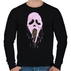PRINTFASHION Jégsikoly - Férfi pulóver - Fekete