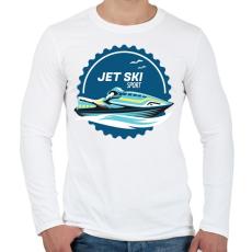 PRINTFASHION Jetski - Férfi hosszú ujjú póló - Fehér