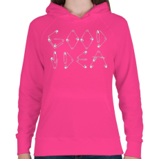 PRINTFASHION Jó ötlet - Női kapucnis pulóver - Fukszia