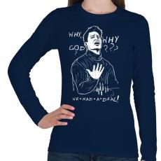 PRINTFASHION Joey - Női hosszú ujjú póló - Sötétkék