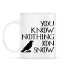 PRINTFASHION JON SNOW - Bögre - Fehér