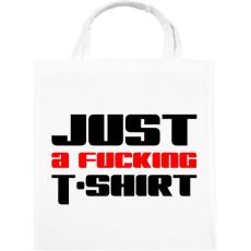 PRINTFASHION just-a-fucking-t-shirt-2-red-black - Vászontáska - Fehér