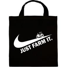 PRINTFASHION Just farm it - Vászontáska - Fekete