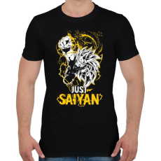 PRINTFASHION Just Saiyan - Férfi póló - Fekete