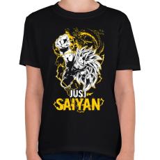 PRINTFASHION Just Saiyan - Gyerek póló - Fekete