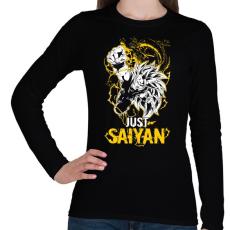 PRINTFASHION Just Saiyan - Női hosszú ujjú póló - Fekete