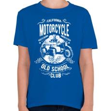 PRINTFASHION Kaliforniai öreg motorosok - Gyerek póló - Királykék