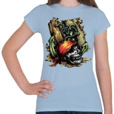 PRINTFASHION Kalóz - Női póló - Világoskék