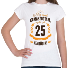 PRINTFASHION kamasz-25-brown-orange - Női póló - Fehér