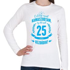 PRINTFASHION kamasz-25-cyan - Női hosszú ujjú póló - Fehér